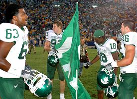 (L-R) Devin Pritchett (63) Nick Smith (93), Terry Love (18) and Eric Smith (36)