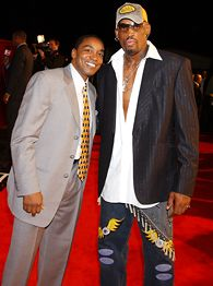 Isiah Thomas and Dennis Rodman