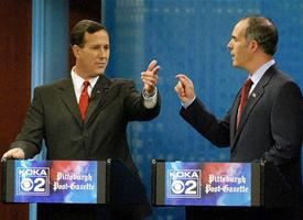 Rick Santorum and Paul Casey