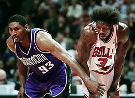 Ben Wallace and Ron Artest