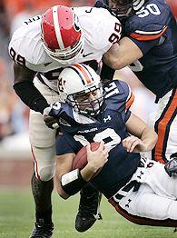 Georgia sacks Auburn