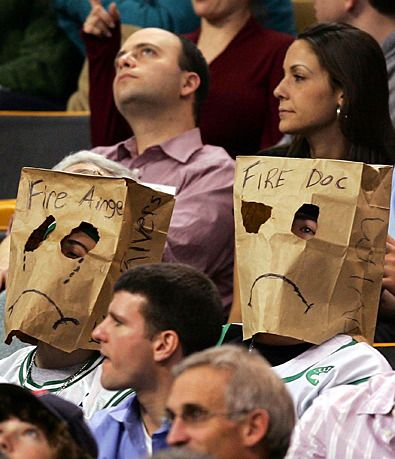 Boston fans are unhappy