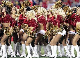 K.C. cheerleaders