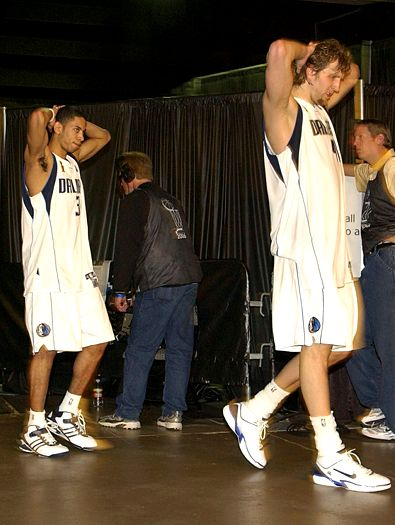 Devin Harris and Dirk Nowitzki