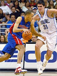 Tayshaun Prince and Darko Milicic