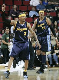 Allen Iverson and Carmelo Anthony