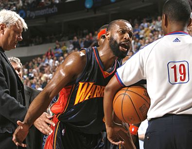 glenn james nbae via getty images baron davis was steamed
