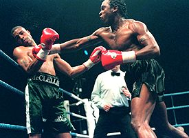 Nigel Benn and Gerald McClellan