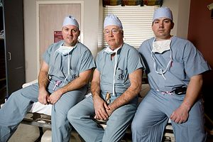 Dr. Lyle Cain, Dr. James Andrews, and Dr. Jeff Dugas