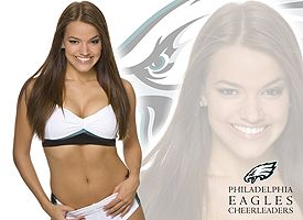 Kjersti, Eagles cheerleader