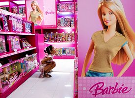 Barbie Doll Display