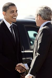 Obama og Bush