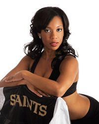 DiAnne, Saints cheerleader
