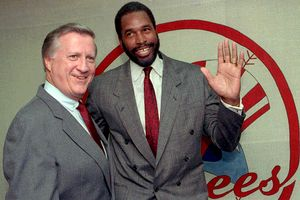 George Steinbrenner and Dave Winfield