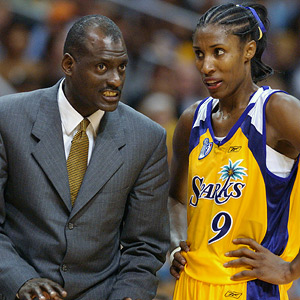 Michael Cooper and Lisa Leslie