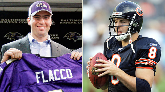 Joe Flacco and Rex Grossman