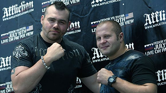 Fedor Emelianenko and Tim Sylvia