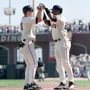 Jeff Kent and Barry Bonds