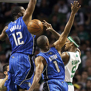 Dwight Howard, Rafer Alston & Rajon Rondo