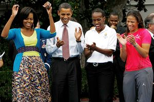 President Barack Obama and First Lady Michelle Obama & Olympic athlete Jackie Joyner Kersee