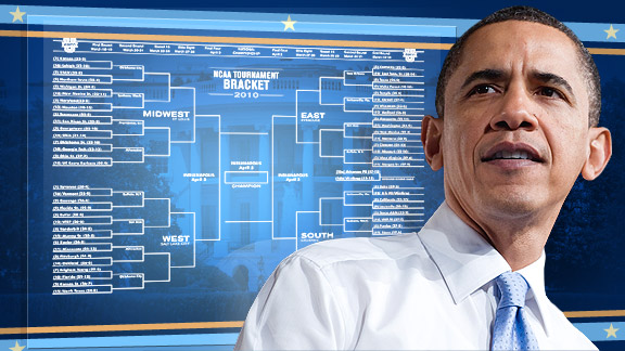 President Obama's NCAA Tournament bracket