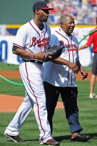 Hank Aaron & Jason Heyward