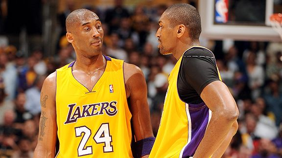 Kobe Bryant and Ron Artest