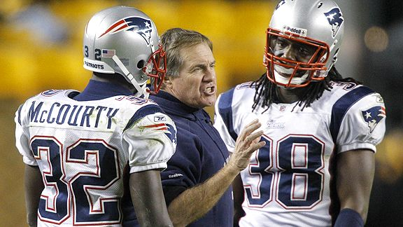 Bill Belichick and Devin McCourty