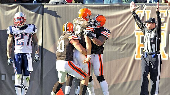 Cleveland Browns celebrate