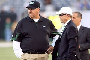 Woody Johnson and Rex Ryan