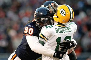 Julius Peppers and Aaron Rodgers
