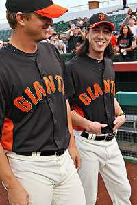 Matt Cain and Tim Lincecum