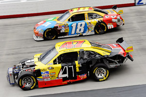 Marcos Ambrose and Kyle Busch