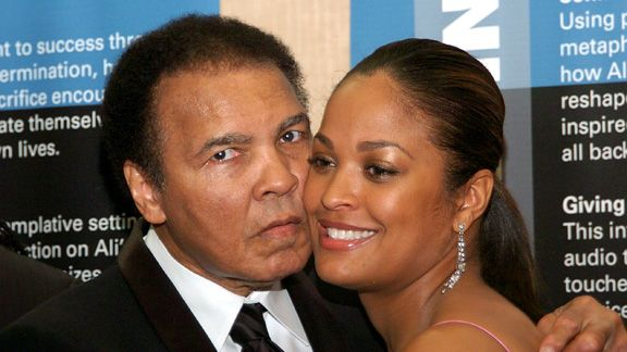 Laila Ali And Muhammad Ali Jr Like father  like daughter