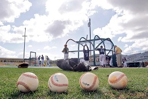spring training baseball game