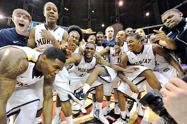 Murray State Jim Brown/US Presswire Murray State players celebrate clinching ...