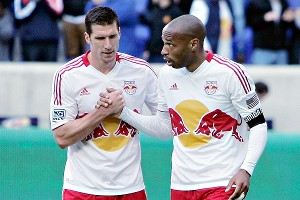 Kenny Cooper and Thierry Henry