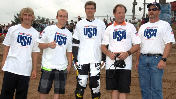 Justin Barcia, Blake Baggett, Ryan Dungey, Roger DeCoster, Ken Crowther
