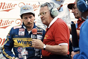 Dale Earnhardt and Chris Economaki