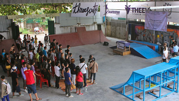 The opening of Skateistan's new skate facility in Phnom Penh, Cambodia.