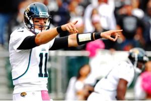 Cary Edmondson/US Presswire Jaguars quarterback Blaine Gabbert left