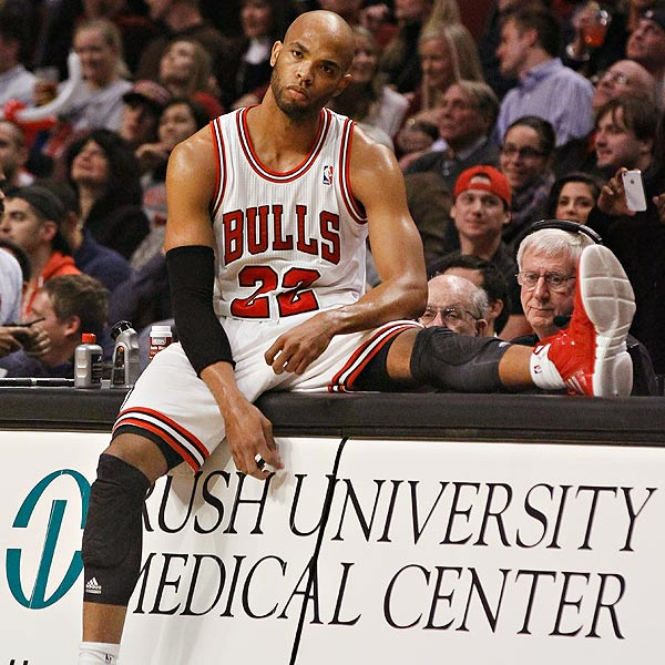 Taj looking as sad as most Bulls fans right now.
