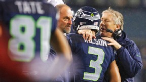 Russell Wilson and Pete Carroll