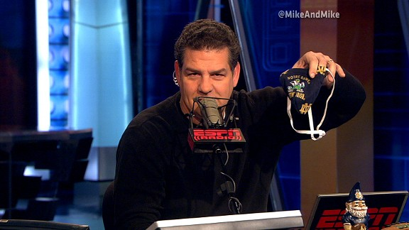 Mike Golic and his Notre Dame thong