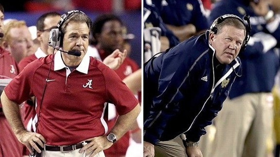 Nick Saban/Brian Kelly
