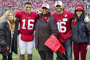 Family photo of the American Football player famous for Seattle Seahawks & Wisconsin Badgers.