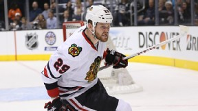 Bryan Bickell #29 of the Chicago Blackhawks