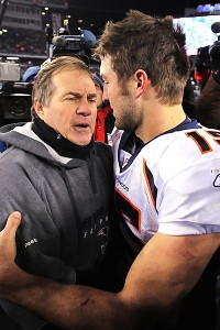 Bill Belichick and Tim Tebow