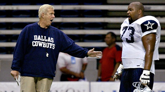 Bill Parcells and Larry Allen