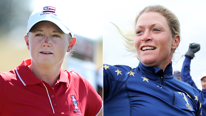 Stacy Lewis and Suzann Pettersen